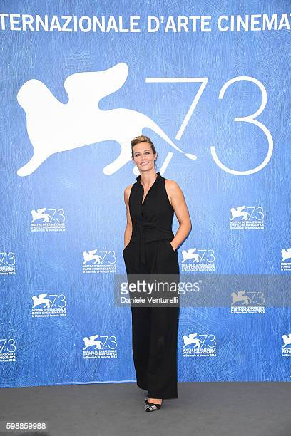 Cécile de France attends the photocall of 'The Young Pope' during the 73rd Venice Film Festival at Palazzo del Casino on September 3, 2016 in Venice,...