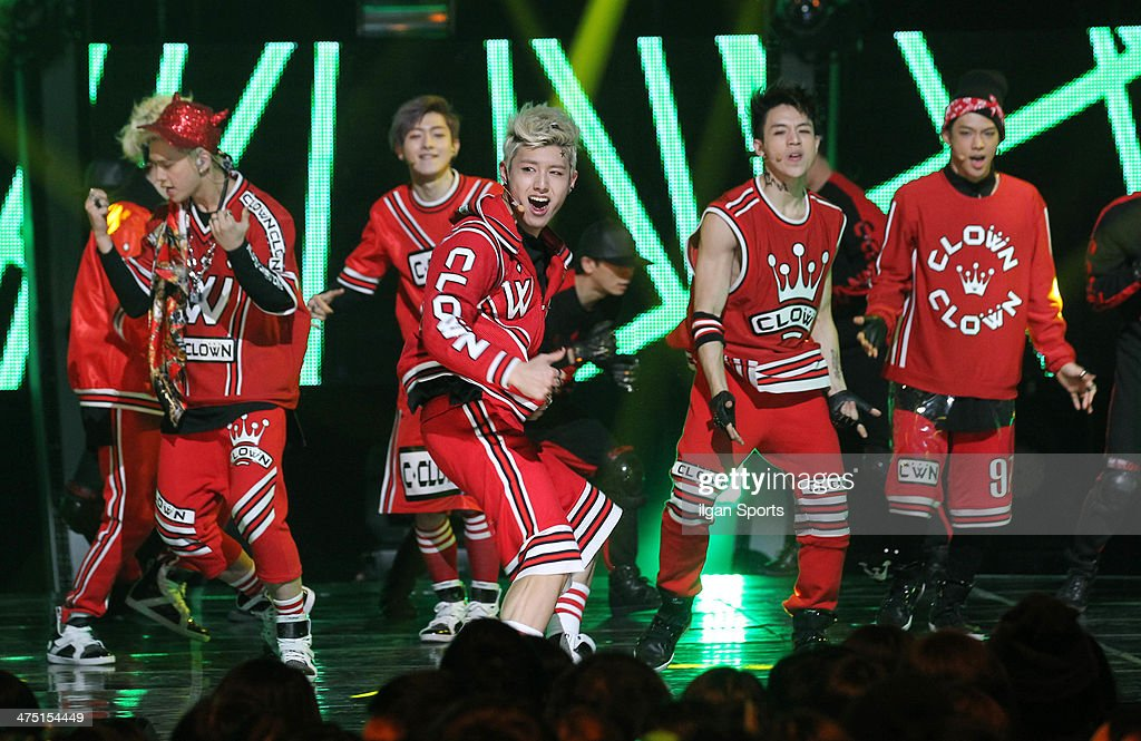 C-Clown perform onstage during the Mnet 'M Count Down' at CJ E&M Center on February 13, 2014 in Seoul, South Korea.