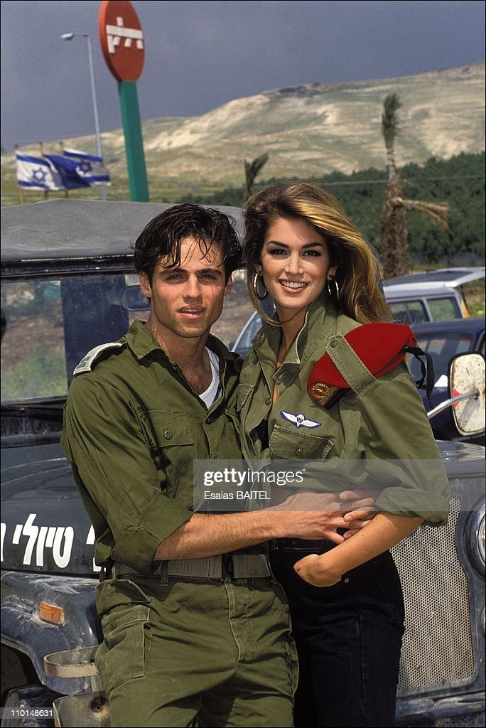 C.Crawford with the Israeli soldiers in the occupied territories in Israel in April, 1992.