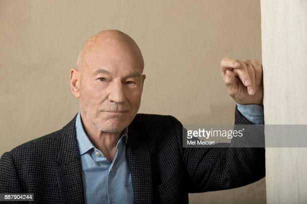 Cctor Patrick Stewart of the movie 'Logan' is photographed at 20th Century Fox Studios for Los Angeles Times on November 2 2017 in Los Angeles...