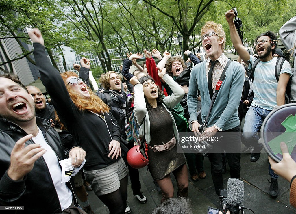 Occupy Wall Street Movement Joins With Activists Group For May Day Demonstrations : News Photo