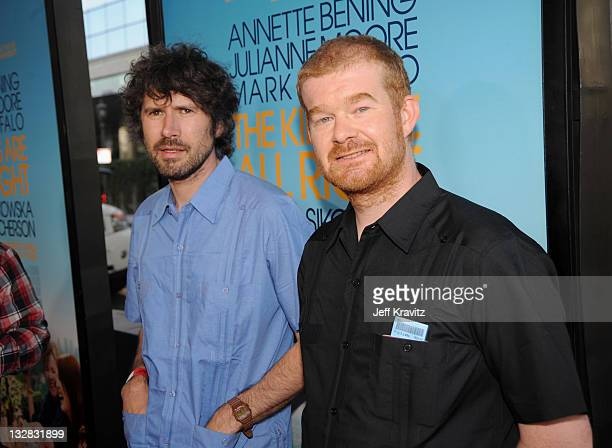CDirectors Gruff Rhys and Dylan Goch arrive at the premiere of Focus Features' The Kids Are All Right during the 2010 Los Angeles Film Festival held...