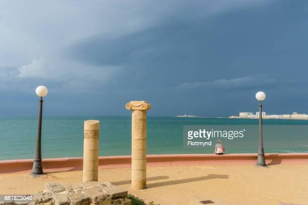 Cádiz waterfront Walkway, Andalucia, Spain