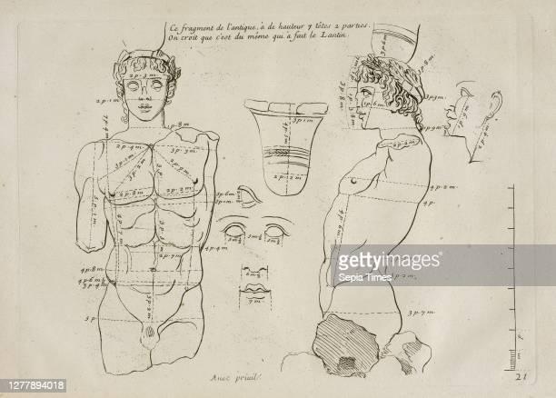 Ce fragment de l'antique. Les proportions du corps humain: mesurées sur les plus belles figures de l'antiquité, Audran, Gérard, 1640-1703, Etching...
