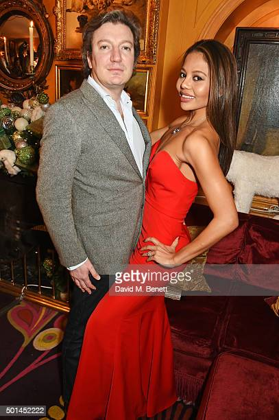 Ceawlin Thynn Viscount Weymouth and Emma McQuiston Viscountess Weymouth attend the David Morris and Agent Provocateur drinks reception hosted by...