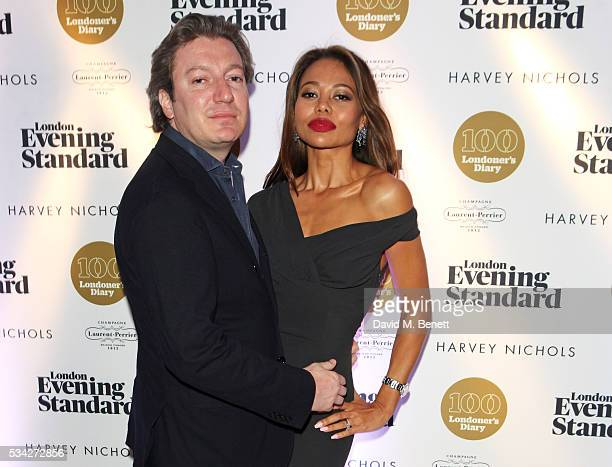 Ceawlin Thynn Viscount Weymouth and Emma McQuiston Viscountess Weymouth attend the London Evening Standard Londoner's Diary 100th Birthday Party in...