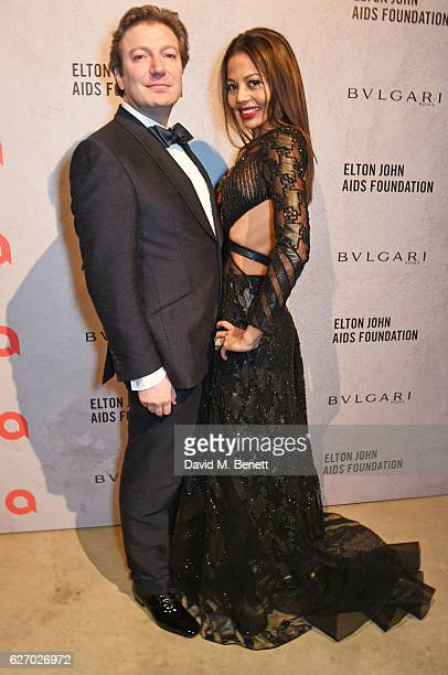 Ceawlin Thynn Viscount Weymouth and Emma McQuiston Viscountess Weymouth attend 'The Radical Eye' dinner and private view for the Elton John Aids...