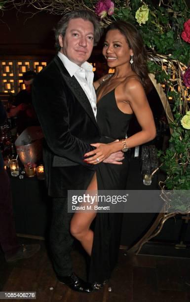 Ceawlin Thynn Viscount Weymouth and Emma Weymouth attend Lisa Tchenguiz's birthday party at Buddha Bar Knightsbridge on January 19 2019 in London...