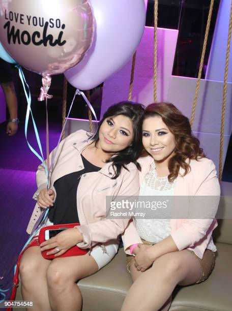 Ceballos sisters attend NYX Professional Makeup presents 'Love You So Mochi' at Elevate Lounge on January 13 2018 in Los Angeles California