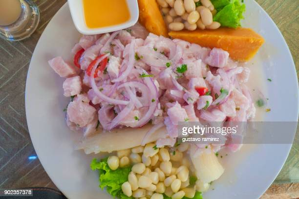 cebiche seafood - lima animal stock pictures, royalty-free photos & images