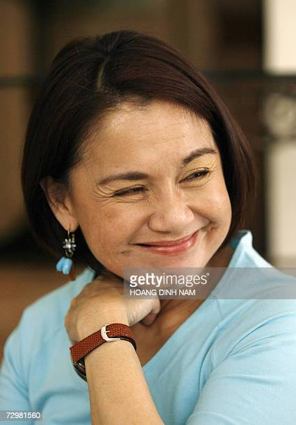 Margot Osmena wife of Philippines' central city mayor smiles during an interview with AFP 09 January 2007 While presidents and prime ministers are...
