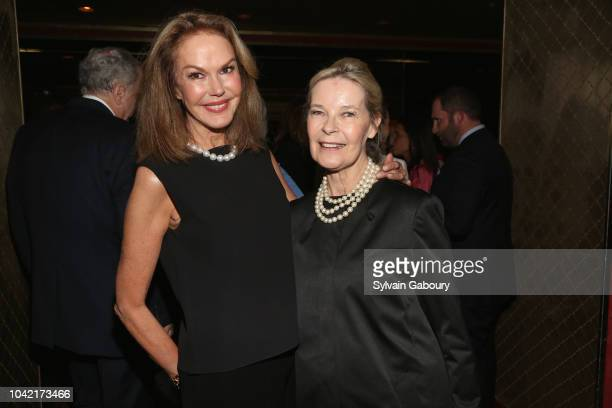 Cece Cord and Mona Arnold attend David Patrick Columbia And Chris Meigher Toast The QUEST 400 At DOUBLES on September 27 2018 in New York City
