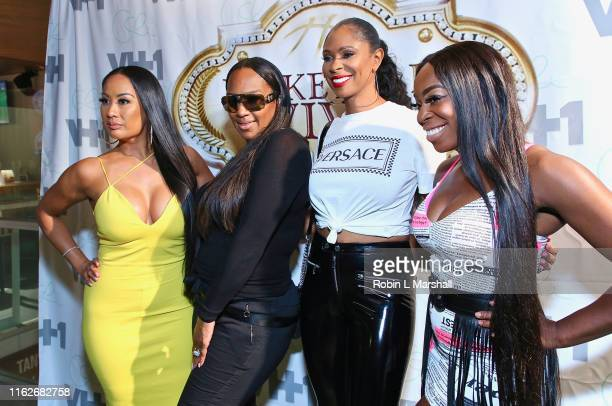 CeCe Gutierrez Jackie Christie Jennifer Williams and Ogom OG Chijindu attend OG and CECE's Basketball Wives viewing party at Hooters on July 17 2019...