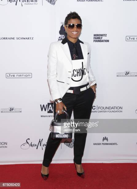 Cece Hendriks attends the Wearable Art Gala Arrivals at California African American Museum on April 29 2017 in Los Angeles California