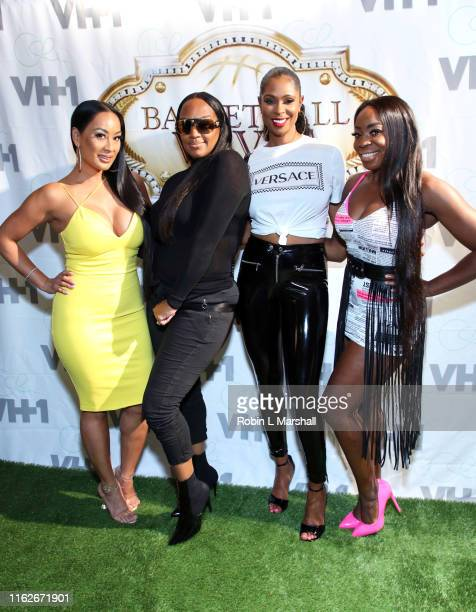 CeCe Jackie Christie Jennifer Williams and OG attend Basketball Wives viewing party at Hooters on July 17 2019 in Hollywood California
