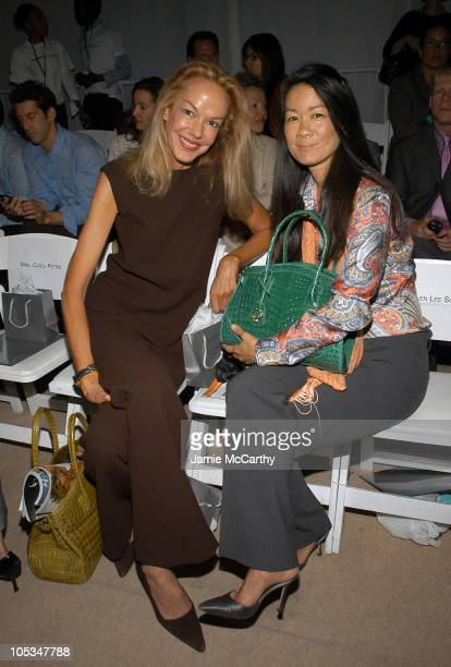 Cece Kord and Helen Lee Schifter during Olympus Fashion Week Spring 2005 - Douglas Hannant - Front Row and Backstage at Plaza Tent , Bryant Park in...