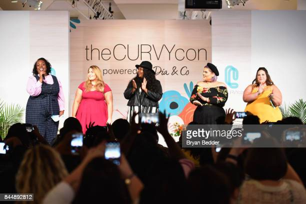 CeCe Olisa Loey Lane Chante Burkett Ashley Nell Tipton and Whitney Way Thore onstage at 3rd annual theCURVYcon presented by Diaco during New York...