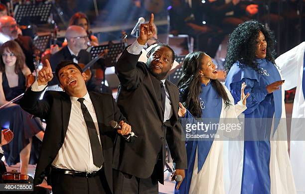 CeCe Rogers performs on stage during the Christmas Concert 2014 at Auditorium Conciliazione on December 13 2014 in Rome Italy