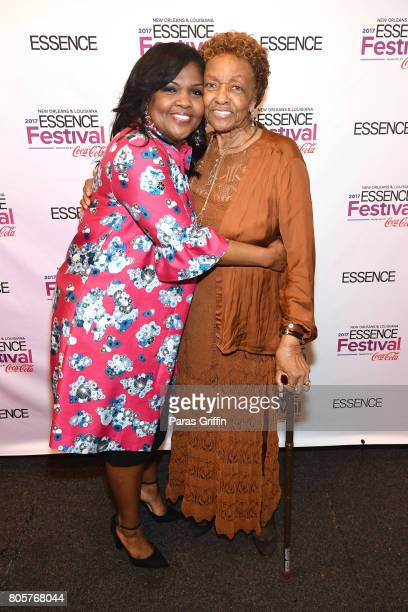 CeCe Winans and Cissy Houston pose backstage at the 2017 ESSENCE Festival presented by CocaCola at Ernest N Morial Convention Center on July 2 2017...