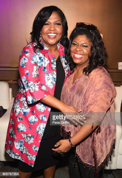CeCe Winans and Kim Burrell pose backstage at the 2017 ESSENCE Festival presented by CocaCola at Ernest N Morial Convention Center on July 2 2017 in...
