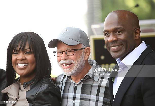 CeCe Winans Jim Bakker and BeBe Winans attend the ceremony honoring BeBe and CeCe Winans with a Star on The Hollywood Walk of Fame on October 20 2011...
