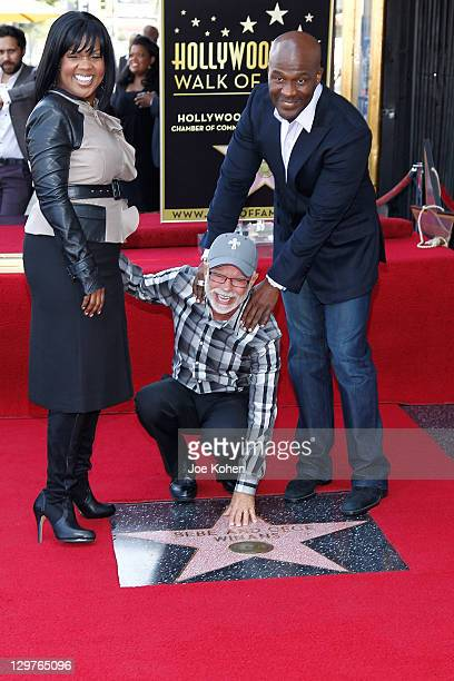 CeCe Winans Jim Bakker and BeBe Winans attend the Hollywood Walk Of Fame Induction Ceremony on October 20 2011 in Hollywood California