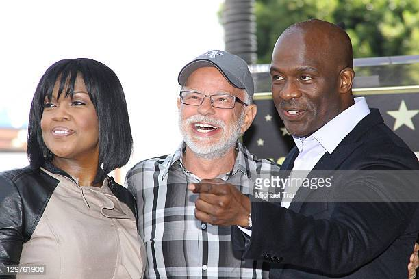 CeCe Winans Jim Bakker and BeBe Winans attends the ceremony honoring BeBe and CeCe Winans with a Star on The Hollywood Walk of Fame on October 20...