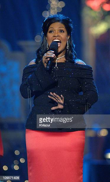 Cece Winans KM 10474_012345_0467JPG during TNT's Christmas in Washington 2005 Show at National Building Museum in Washington DC United States
