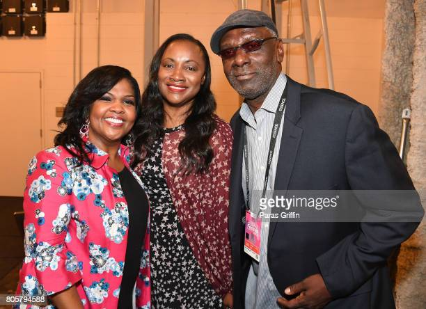 CeCe Winans Pat Houston and Gary Houston pose backstage at the 2017 ESSENCE Festival presented by CocaCola at Ernest N Morial Convention Center on...