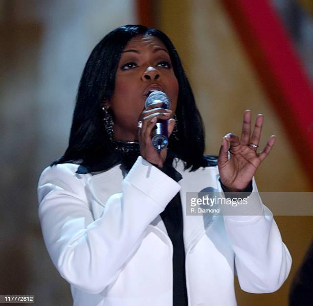 CeCe Winans performs Hallelujah Praise during GMA's 35th Annual Music Awards Show at Nashville Municipal Auditorium in Nashville TN United States