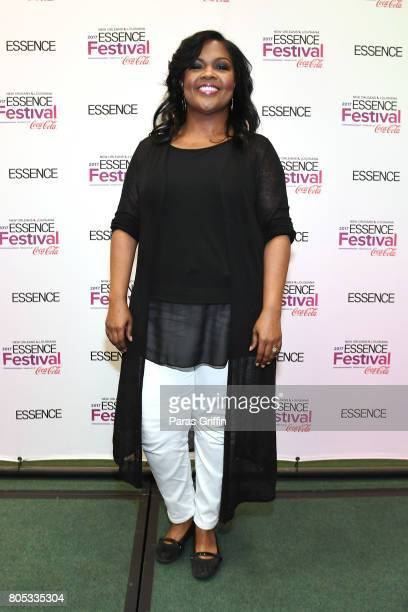 CeCe Winans poses in the press room at the 2017 ESSENCE Festival presented by CocaCola at Ernest N Morial Convention Center on July 1 2017 in New...