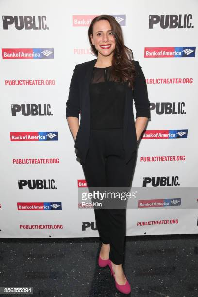 """Ceci Fernandez attends the opening night celebration of """"Tiny Beautiful Things"""" at The Public Theater on October 2, 2017 in New York City."""
