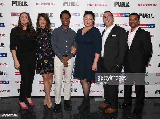 Ceci Fernandez, Nia Vardalos, Hubert Point-DuJour, Natalie Woolams-Torres, Teddy Canez and Delance Minefee attend the opening night celebration of...