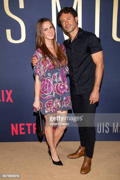 Ceci Ponce poses during the Netflix Luis Miguel Premiere Red Carpet at Cinemex Antara on April 17, 2018 in Mexico City, Mexico.