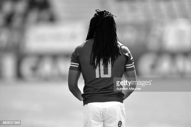 Cecil Afrika of South Africa reacts during the HSBC rugby sevens match between South Africa and Samoa on May 14 2017 in Paris France