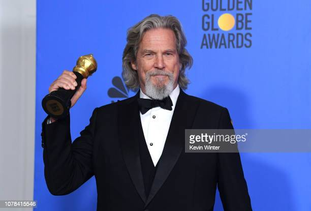 Cecil B DeMille Award winner Jeff Bridges poses in the press room during the 76th Annual Golden Globe Awards at The Beverly Hilton Hotel on January 6...