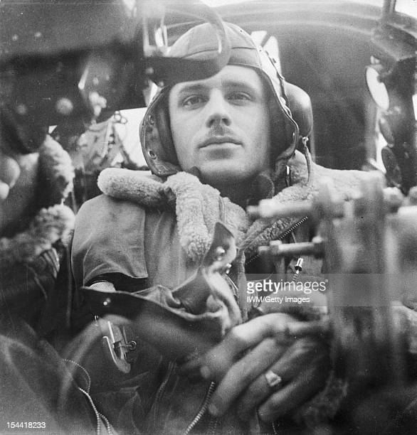 General The Royal Air Force The rear gunner in his position in a Wellington bomber circa 1942