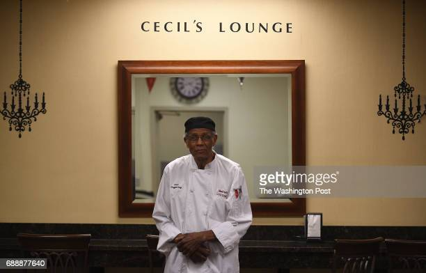 Cecil Exum poses for a portrait photograph inside the employee's cafeteria which is named Cecil's Lounge after him at the Marriott Crystal Gateway...