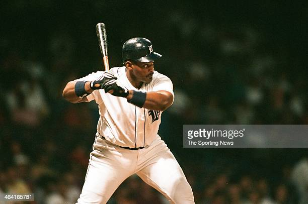 Cecil Fielder of the Detroit Tigers during a game on July 1 1995