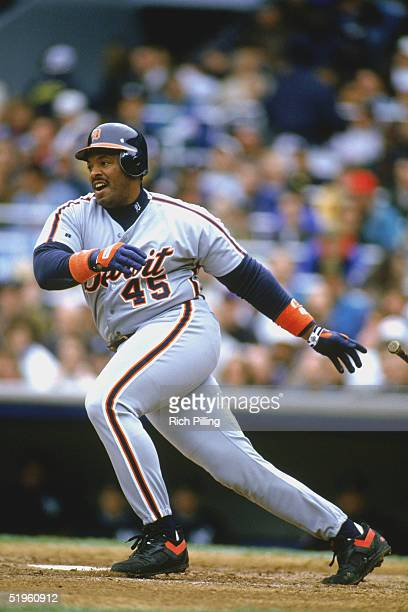 Cecil Fielder of the Detroit Tigers makes a hit during a 1994 season game Cecil Fielder played for the Toronto Blue Jays from 19851988 Detroit Tigers...