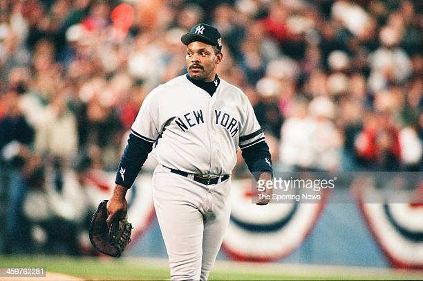 Cecil Fielder of the New York Yankees during Game Four of the World Series against the Atlanta Braves on October 23 1996 at AtlantaFulton County...