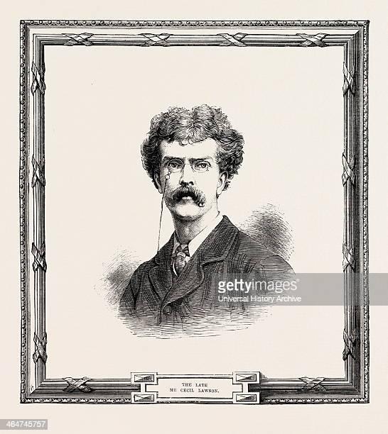 Cecil Gordon Lawson December 3 1851 June 10 Was An English Landscape Painter Engraving 1882 UK Britain British Europe United Kingdom Great Britain...