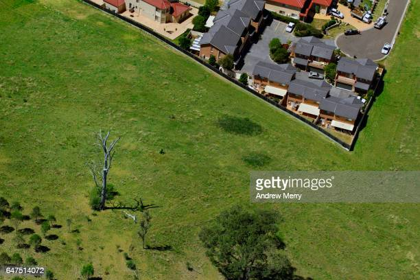cecil hills, western sydney, aerial photography - west direction stock pictures, royalty-free photos & images