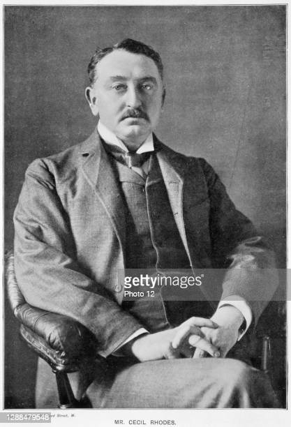 Cecil John Rhodes English-born South African statesman. Photographic portrait published 1901.