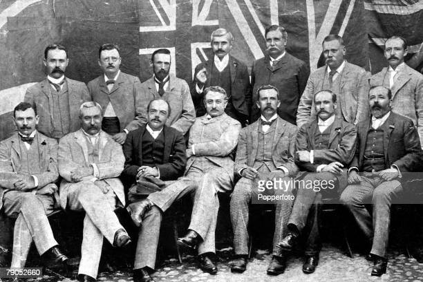 Cecil John Rhodes Kimberley Notabilities The seated figures from left to right are Sir Richard Solomon DJHaarhoff Sir Starr JamesonBart Cecil Rhodes...
