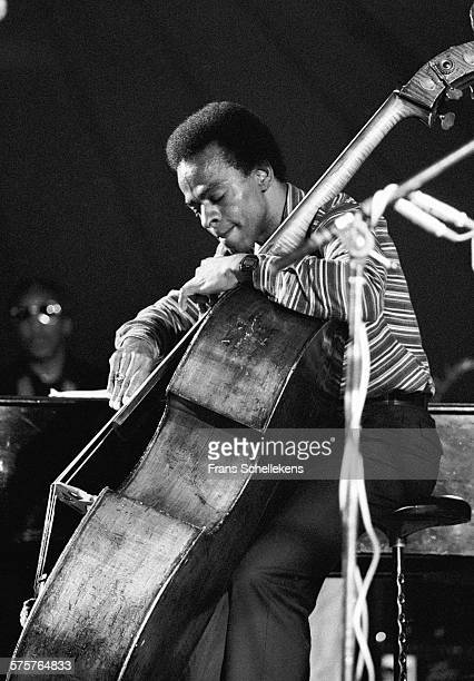 Cecil McBee, bass, performs on July 14th 1982 at the North Sea Jazz Festival in the Hague, Netherlands.