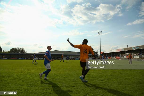 Cecil Nyoni of Handsworth during the Emirates FA Cup Second Qualifying Round match between Halesowen Town and Handsworth Parramore: at The Grove...