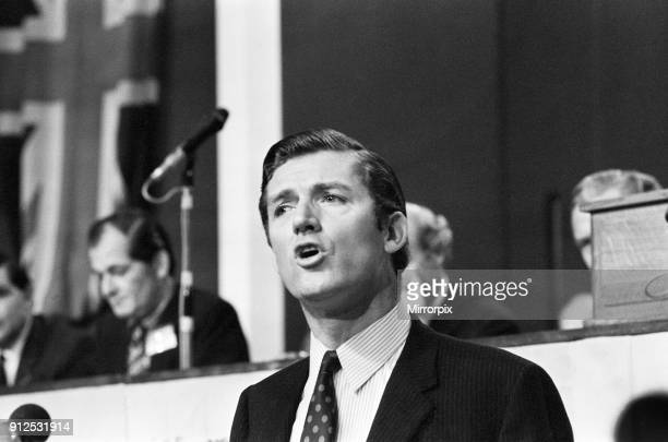 Cecil Parkinson Conservative candidate in the upcoming Enfield West byelection in November speaks at the Conservative Party Conference in Blackpool...