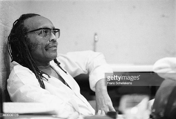 Cecil Taylor, piano, poses at the BIM Huis on 9th August 1990 in Amsterdam, the Netherlands.