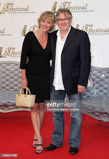 Cecile Auclert and Christian Rauth attend the TF1 party on the fourth day of the 2008 Monte Carlo Television Festival held at Grimaldi Forum on June...